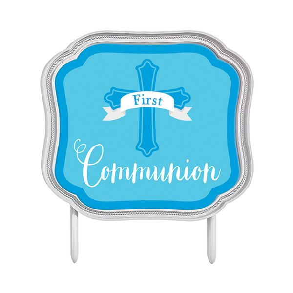 First Communion Blue Cake Topper